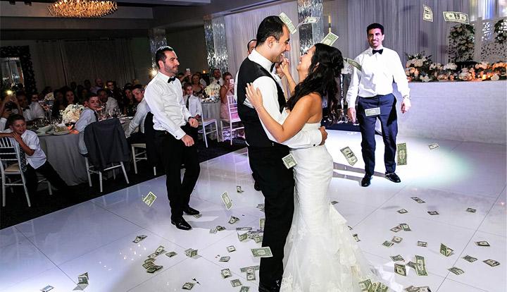 Money Showering During Wedding