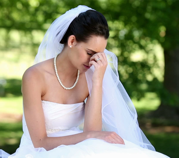 Sad Bride for Wedding Mistakes