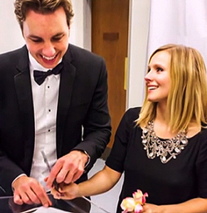 Celebrities Who Had A Small Wedding - Kristen Bell And Dax Shepherd