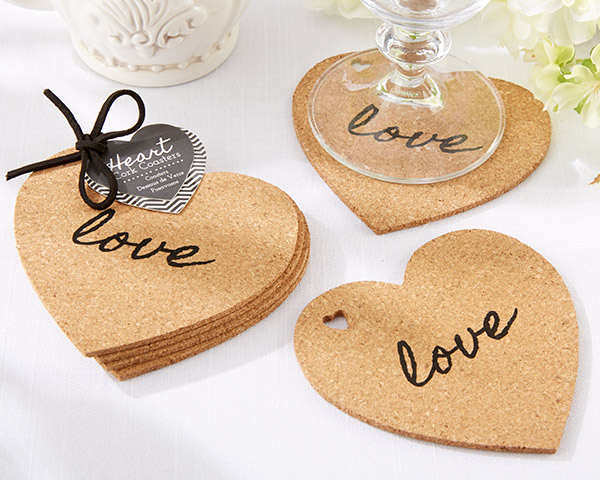 cork coasters - wedding favors