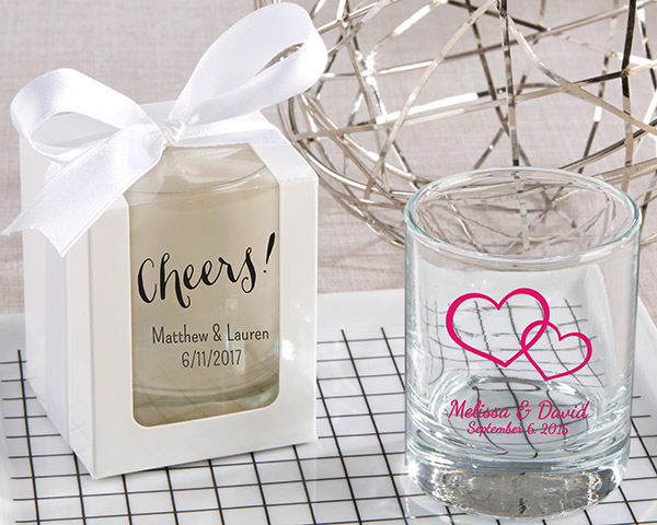 custom shot glass - wedding favors