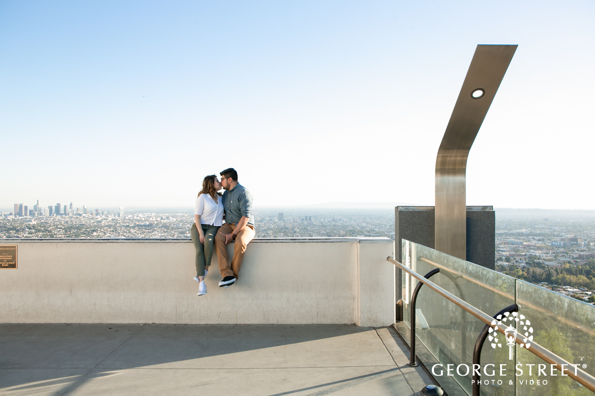 griffith observatory - engagement photo