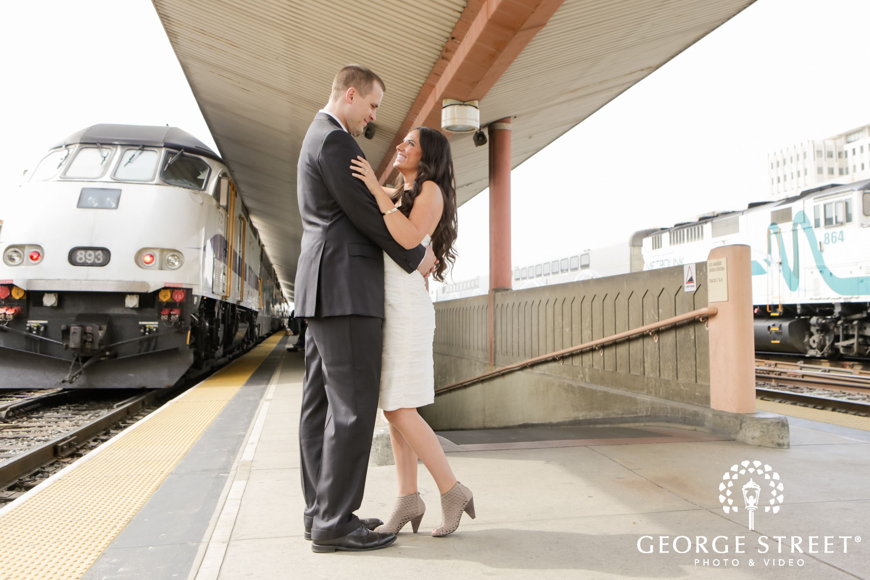 union station - engagement photo