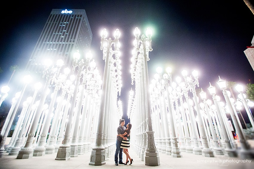 Urban Light - engagement photo
