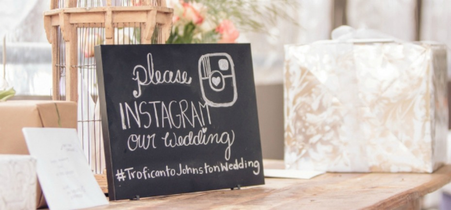 capitalize the first letter - wedding hashtag
