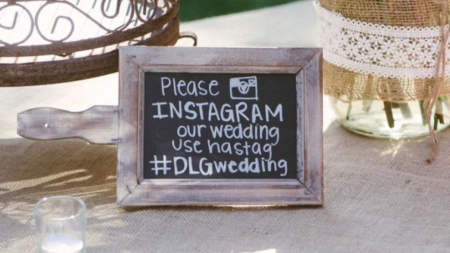 bonus tip - wedding hashtag