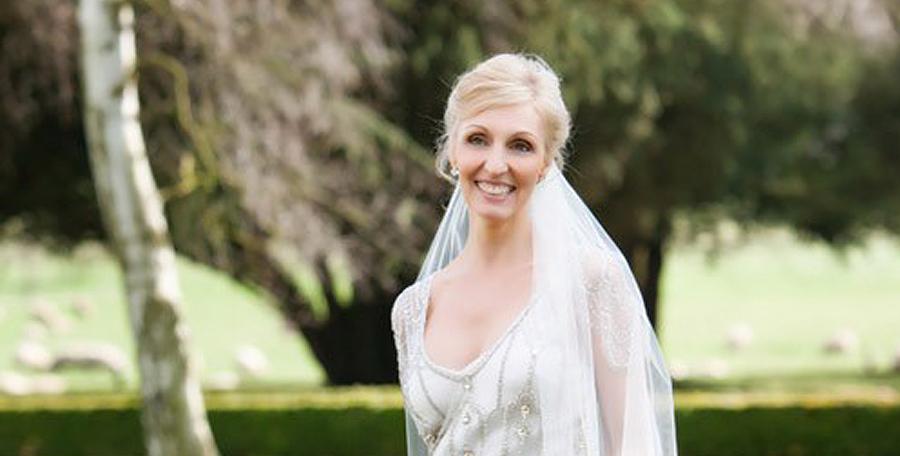 Bridal Style For Older Brides - Blonde Older Bride Outside