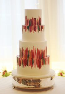 Hand Painted Cakes With Edible Paint - Cake With Colorful Paint Strokes